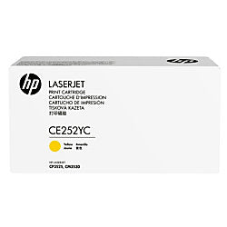 HP 504A (CE252YC) Color LaserJet CM3530 MFP CP3525 Optimized Yield Yellow Original LaserJet Contract Toner Cartridge (7900 Yield)