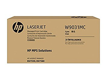 HP (W9031MC) Color LaserJet Managed MFP E67550 E67560 Cyan Managed Original LaserJet Toner Cartridge (28000 Yield)