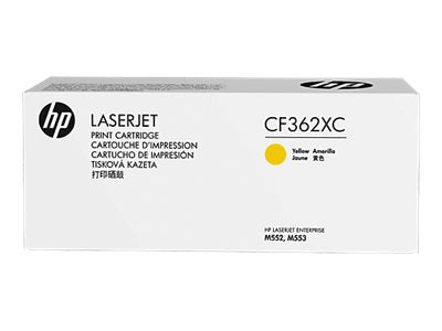 HP 508X (CF362XC) Color LaserJet M552 M553 (Flow) MFP M577 High Yield Yellow Original LaserJet Contract Toner Cartridge (9500 Yield)