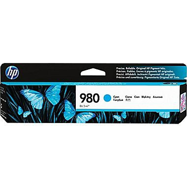 HP 980 (D8J07A) Cyan Original Ink Cartridge (6600 Yield)