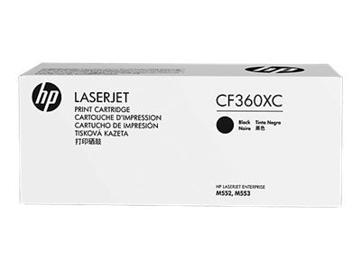 HP 508X (CF360XC) Color LaserJet M552 M553 (Flow) MFP M577 High Yield Black Original LaserJet Contract Toner Cartridge (12500 Yield)