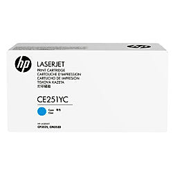 HP 504A (CE251YC) Color LaserJet CM3530 MFP CP3525 Optimized Yield Cyan Original LaserJet Contract Toner Cartridge (7900 Yield)