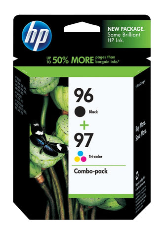 HP 96 Black/97 Tri-Color (C9353FN) 2-Pack Original Ink Cartridges (860 Black 560 Tri-Color Yield)