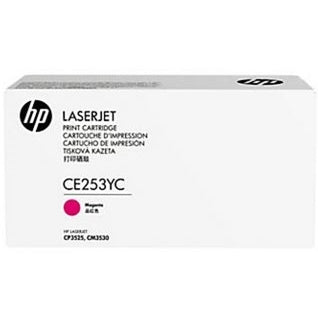 HP 504A (CE253YC) Color LaserJet CM3530 MFP CP3525 Optimized Yield Magenta Original LaserJet Contract Toner Cartridge (7900 Yield)
