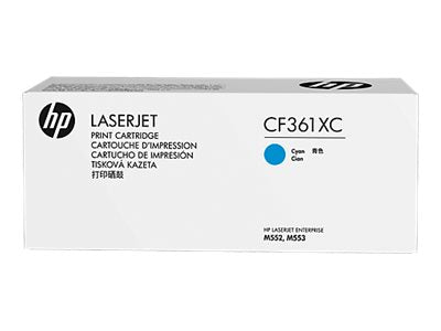 HP 508X (CF361XC) Color LaserJet M552 M553 (Flow) MFP M577 High Yield Cyan Original LaserJet Contract Toner Cartridge (9500 Yield)