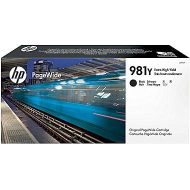HP 981Y (L0R16A) PageWide Enterprise Color 556 586 Managed Color E55650 E58650 Extra High Yield Black Original PageWide Cartridge (20000 Yield)