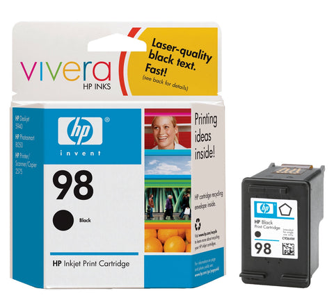 HP 98 (C9364WN) Black Original Ink Cartridge (420 Yield)
