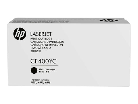 HP 507X (CE400YC) Color LaserJet M551 Enterprise 500 MFP M570 M575 M575c Optimized Yield Black Original LaserJet Contract Toner Cartridge (11700 Yield)