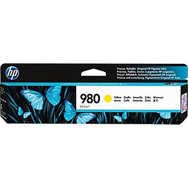 HP 980 (D8J09A) Yellow Original Ink Cartridge (6600 Yield)