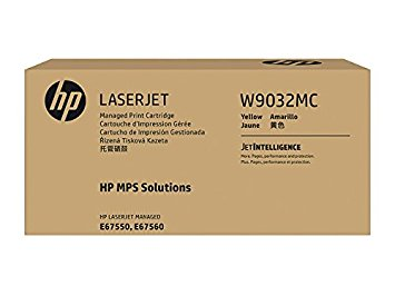 HP (W9032MC) Color LaserJet Managed MFP E67550 E67560 Yellow Managed Original LaserJet Toner Cartridge (28000 Yield)