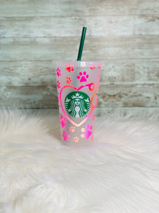 Personalized Vet / Vet Tech Pink Starbucks Cold Cup - Ready to Ship - 2-3 Day Priority Shipping