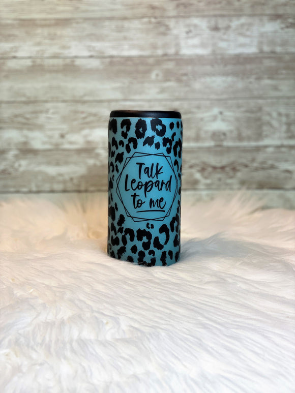 Talk Leopard to Me - Matte Leopard Print - Slim Coozie 20oz - Ready to Ship