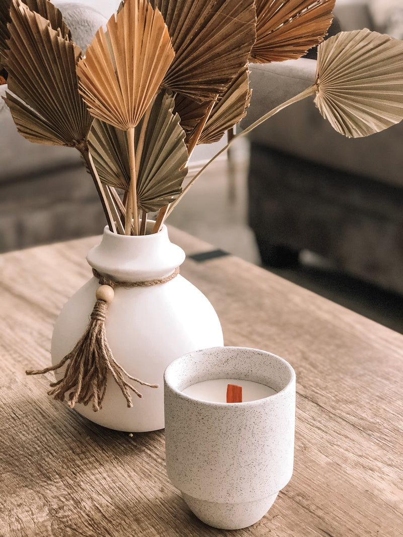 "''off-white stoneware paddy wax candle by RefinedbyJM""'"