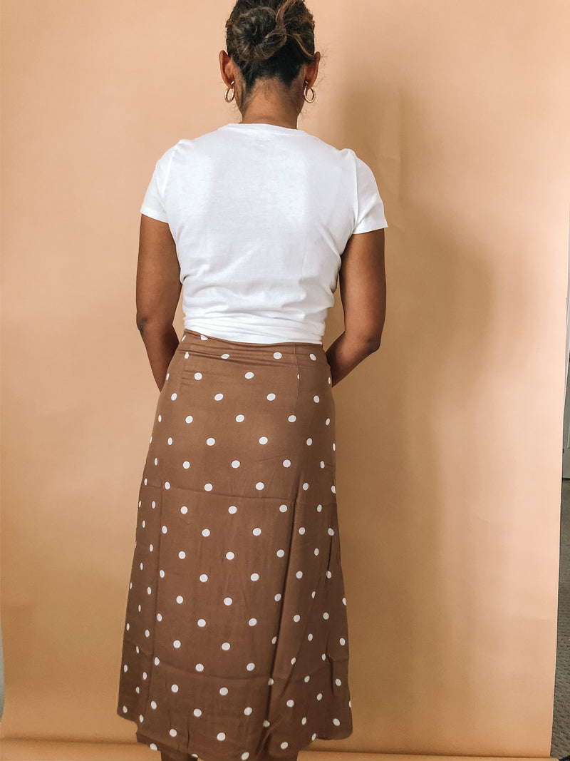 Polka Dot Skirt available on top everyday wear online boutique, RefinedbyJM