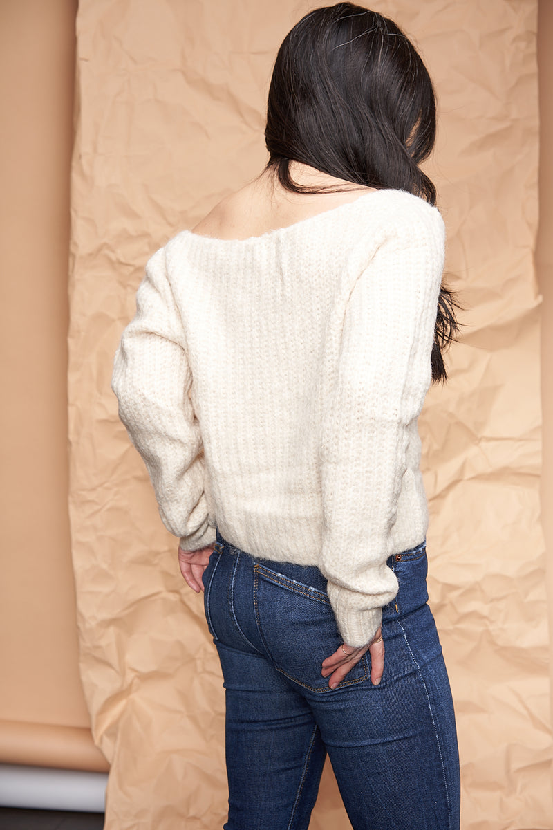 Fuzzy Crop Sweater available on top US everyday fashion online boutique, RefinedbyJM