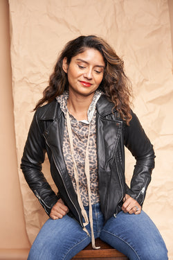 Black Moto Jacket featured by top everyday wear online boutique, RefinedbyJM