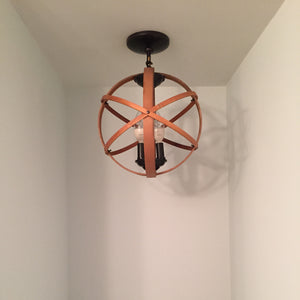 "12"" Orb Chandelier (semi-flush mount)"