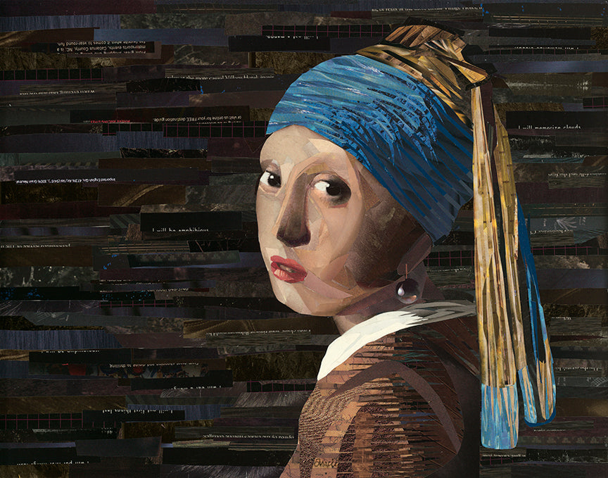 """Magazine Girl With a Pearl Earring"" - Fine Art Print"