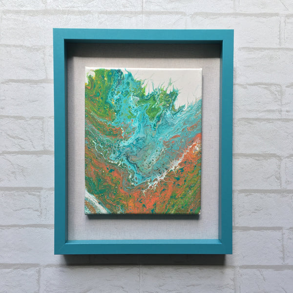 """Splash"" - Original Acrylic Framed Painting"