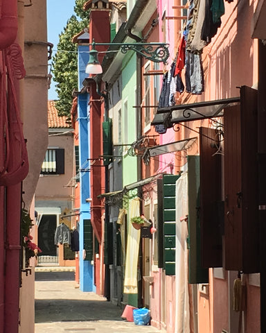 """Afternoon in Burano"" - Framed Fine Art Premier Lustre Photo Print (13""x16"")"