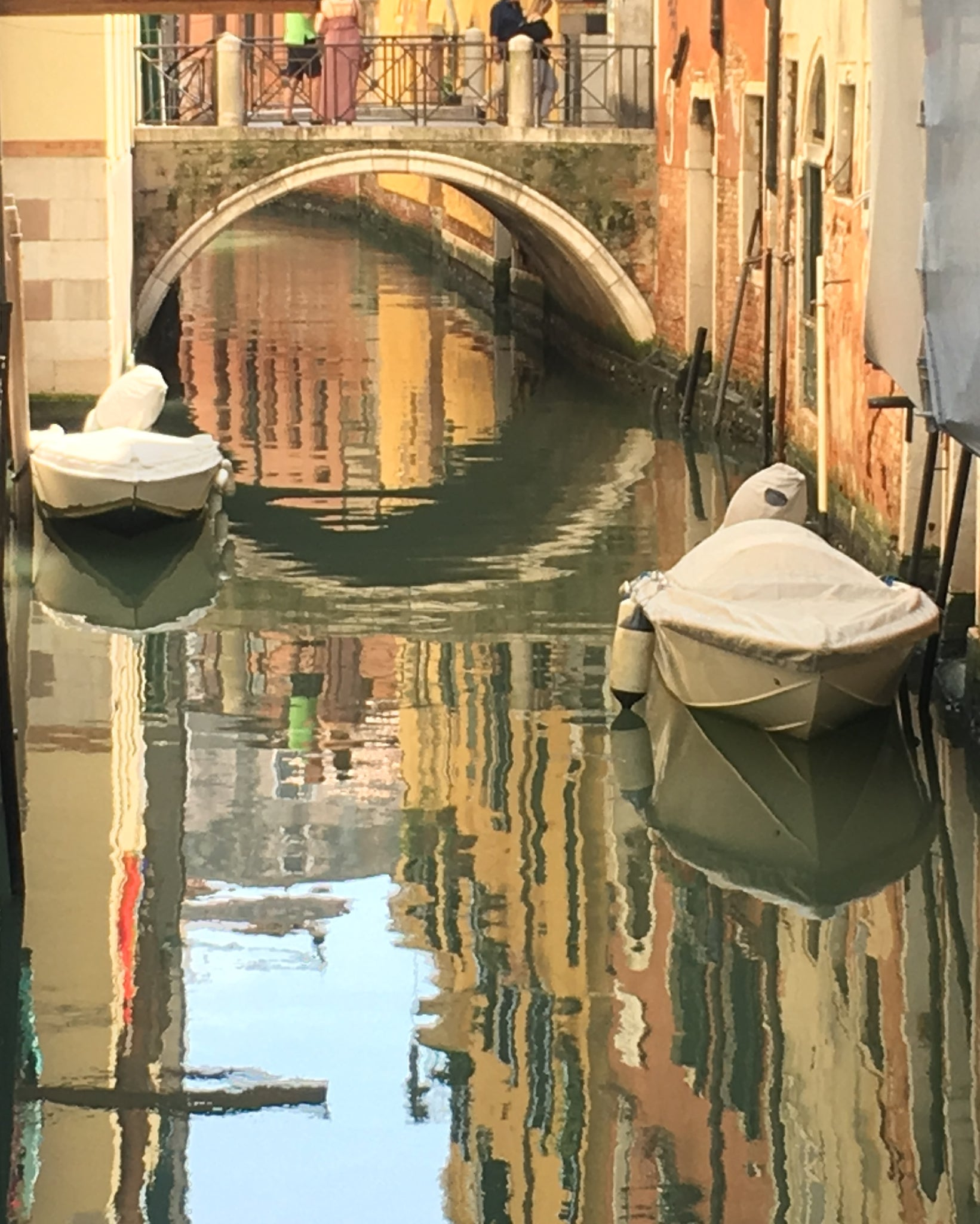 """Reflections of Venice"" - Framed Fine Art Metallic Photo Print (16""x20"")"