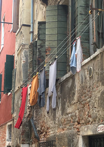 """Venetian Laundry Line"" - Framed Fine Art Premier Lustre Photo Print (9.5""x11.5"")"