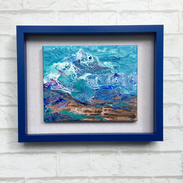 """Surf's Up!"" - Original Acrylic Framed Painting"