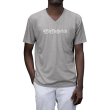 Load image into Gallery viewer, Men's Tri-Blend V-Neck T-Shirt - small logo