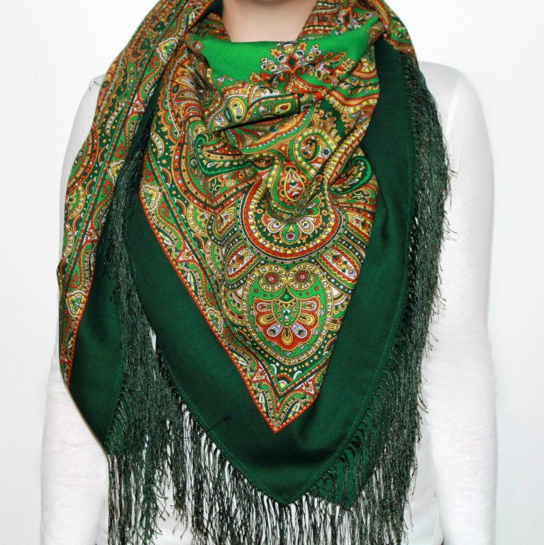 East Kaleidoscope - Woolen shawl/scarf - Large