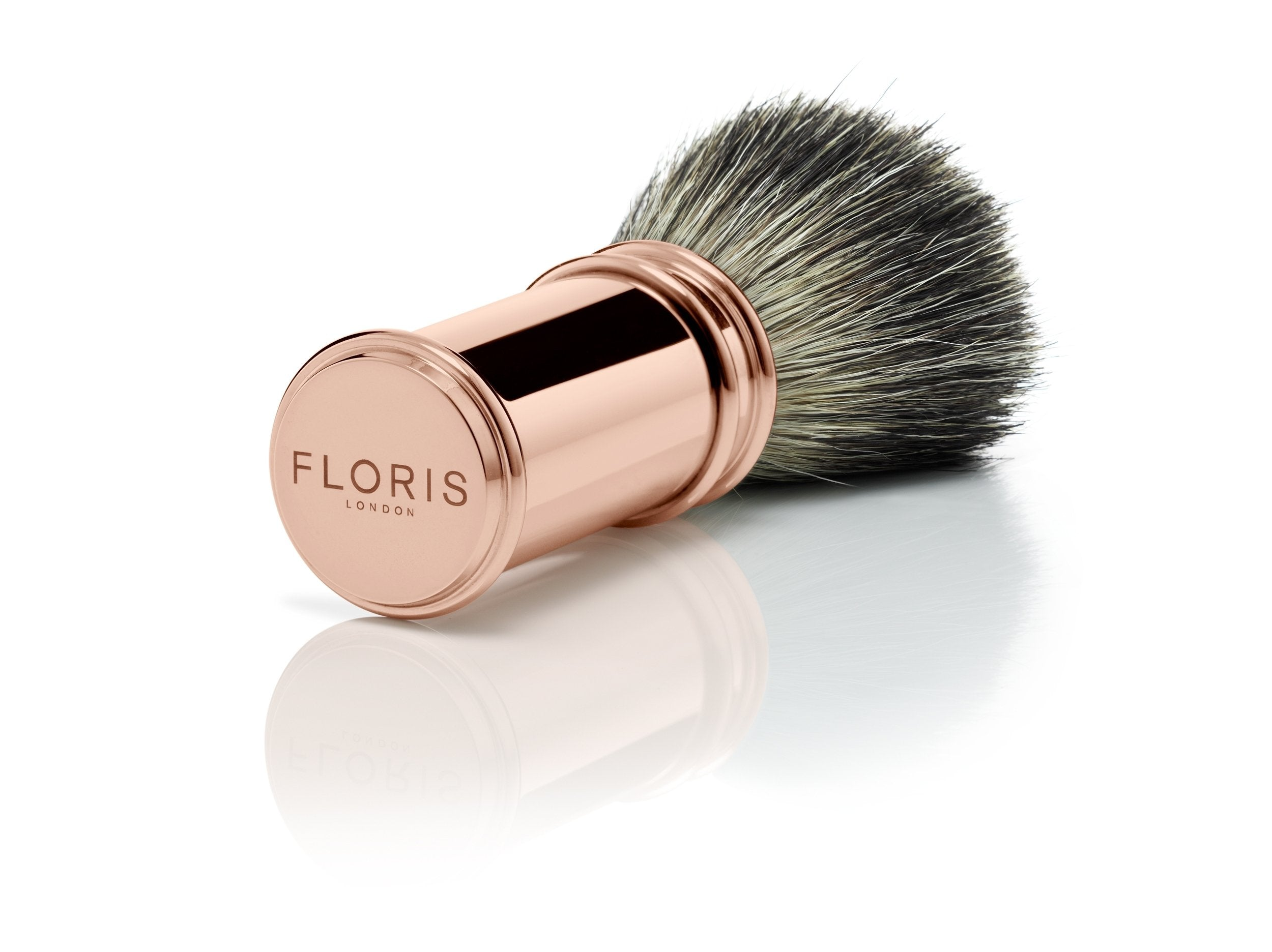 Chrome and Rose Gold Plate - 3 Piece Shaving Set