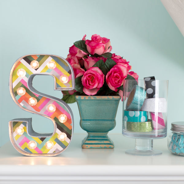 decorated light up letters
