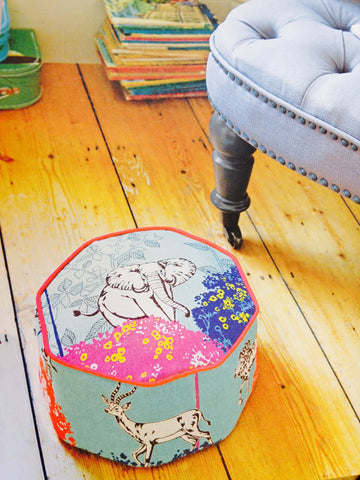 sweet tin upholstered foot stool make your own diy