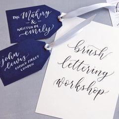 Brush Lettering Workshop (John Lewis, Oxford St)
