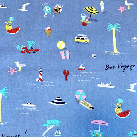 Bon Voyage Vacation Cotton Fabric