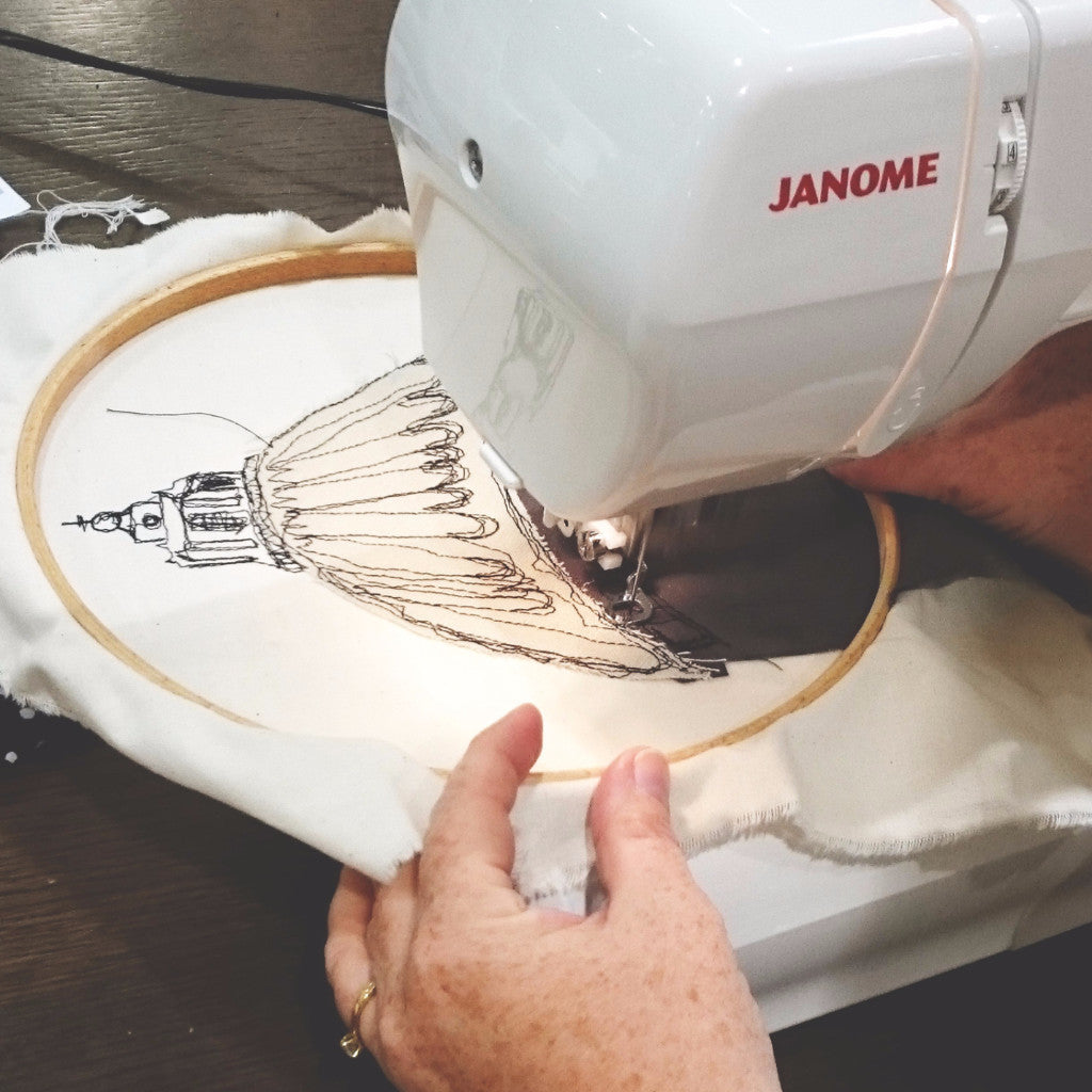 Freehand Machine Embroidery John Lewis London The Makery