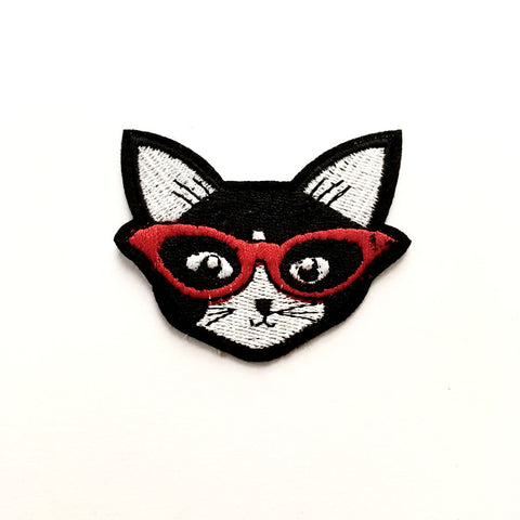 Iron on Patch: Clever Cat