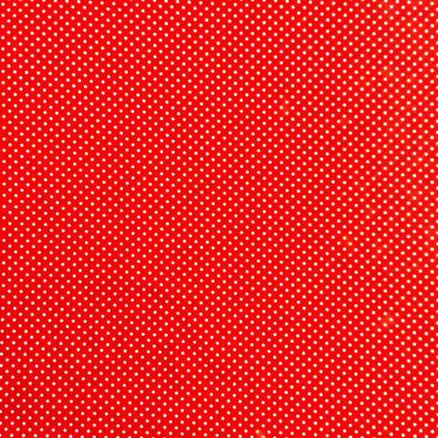 Polka Dot Cotton: Red