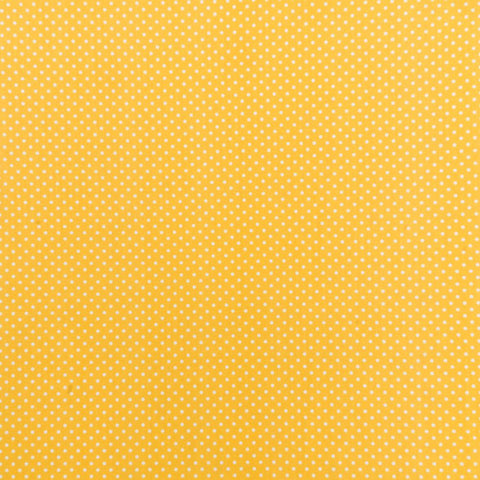 Polka Dot Cotton: Sunshine Yellow
