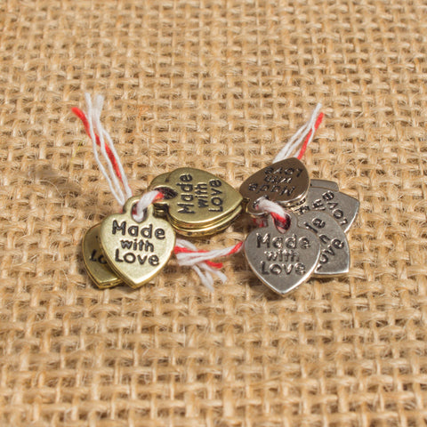 Charms: Made with love (Various colours)