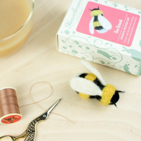 Bee Brooch, Needle Felting Kit