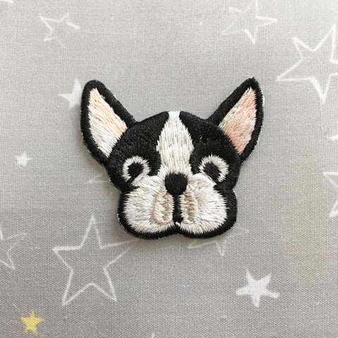 Iron-on Patch: French Bulldog or Boston Terrier?