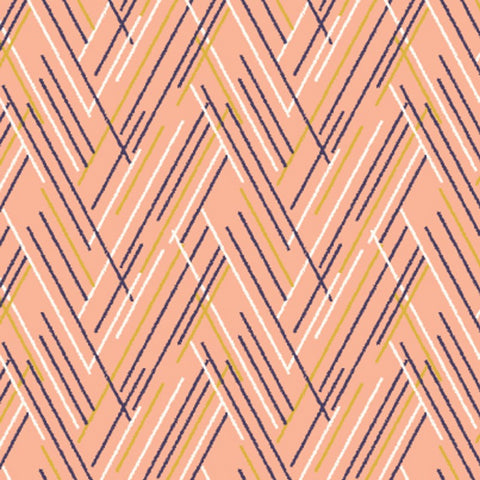 Autumn Rain, Pink. Fabric by Dashwood