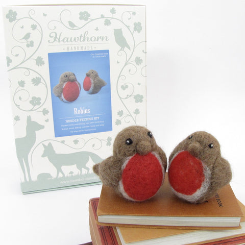 Christmas Robins Needle Felting Kit