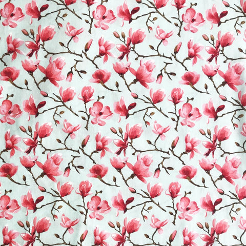 Mint Blossom Fabric
