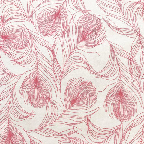 Pink Feather Fabric
