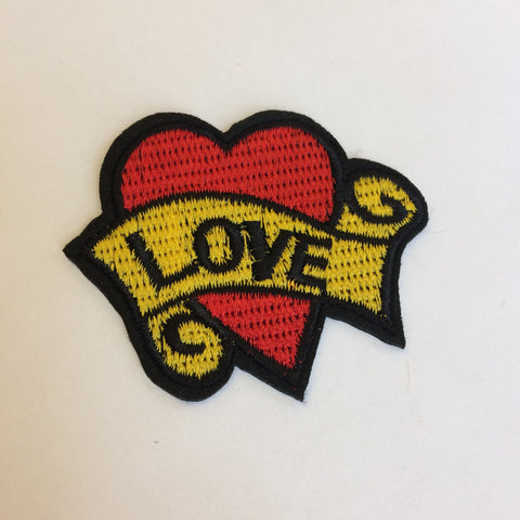 Iron On Patch: LOVE heart