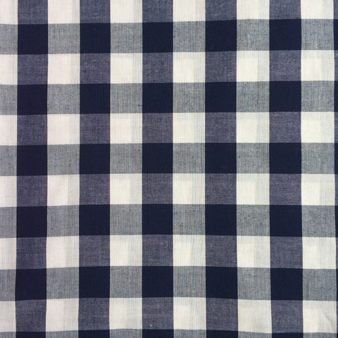Gingham Fabric: Navy
