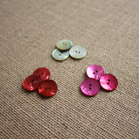 Mother of Pearl Midi Buttons (Various Colours)