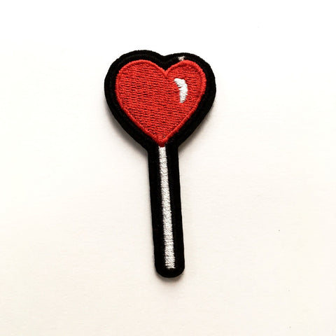 Iron-on Patch: Lollipop Love Heart