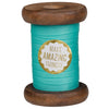 Spearmint Neon Ribbon on Wooden Spool